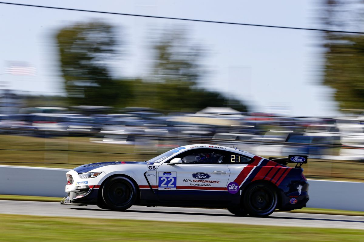 The No. 22 Multimatic Motorsports Ford Mustang GT4 of Seb Priaulx and Scott Maxwell at Road Atlanta. (Picture from IMSA, 28817126)