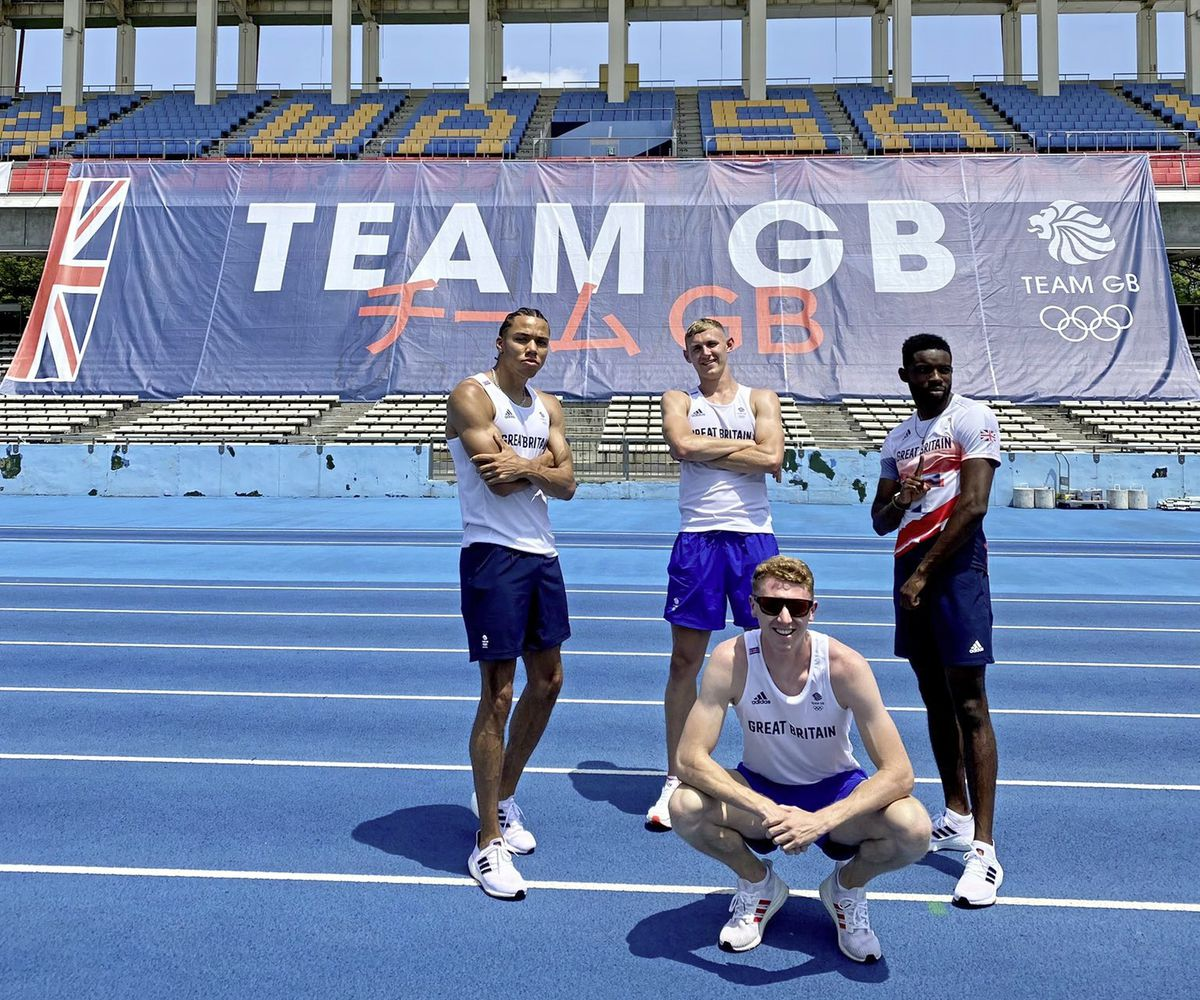 Cameron Chalmers (front) and his teammates at the Team GB holding camp in Yokohama ahead of the Tokyo 2020 Olympics. (Picture from @CamChalmers400, 29787184)