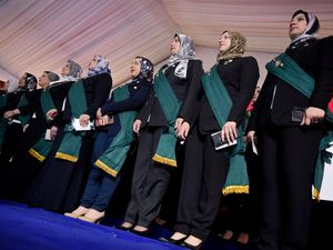 Nearly 100 women sworn in as judges in Egypt judicial body