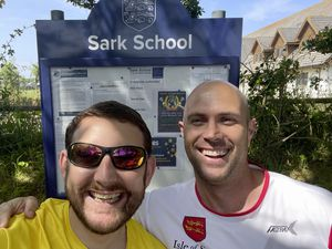 Picture Supplied. 30-06-21 L-R - Dr Nicholas Roberts and Adam Turner re Sark running challenge.. (29712947)