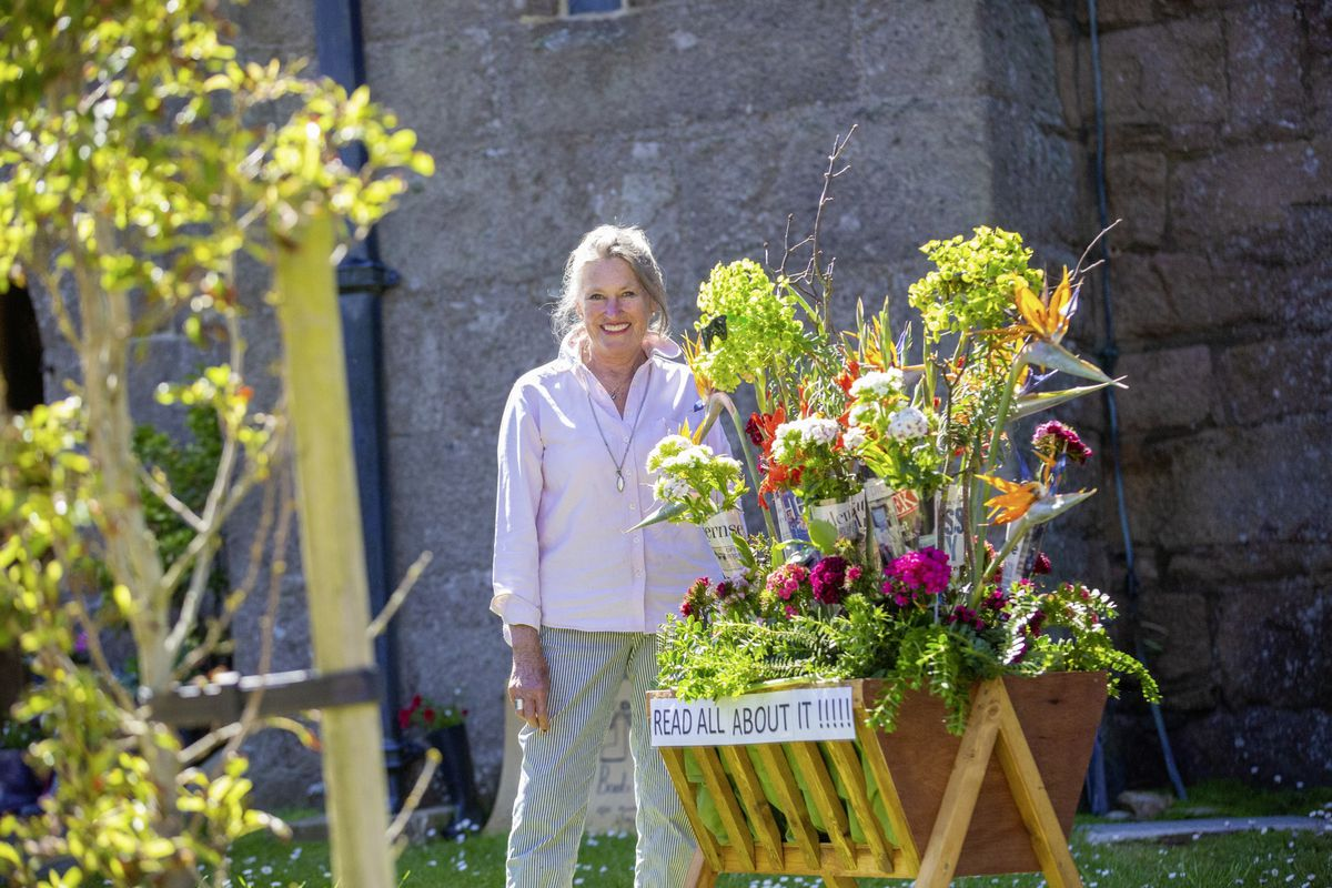Flower festival organiser Diana Arundale. (Picture by Peter Frankland, 29636335)