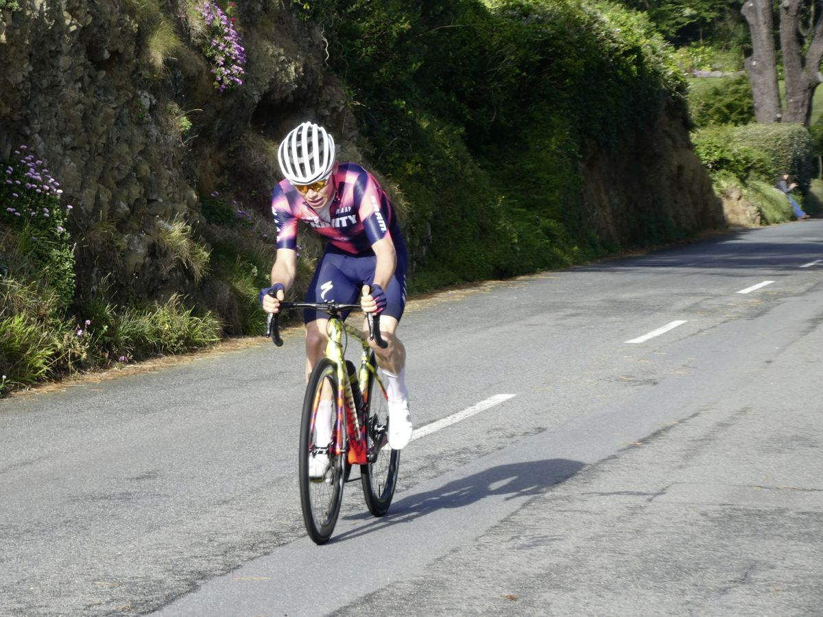 Sam Culverwell powers up the Imperial Hill with a sizeable gap on his pursuers. (Picture by Jamie Ingrouille, 28386689)
