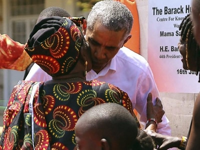 Obama praises political reconciliation on visit to Kenya