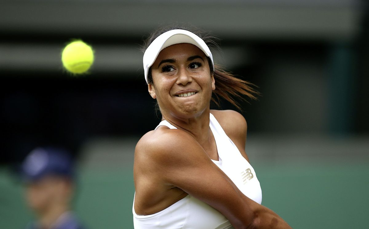 Heather Watson fought hard in the first set and had four set points, but eventually succumbed to Johanna Konta. (Steven Paston/PA, 28644133)