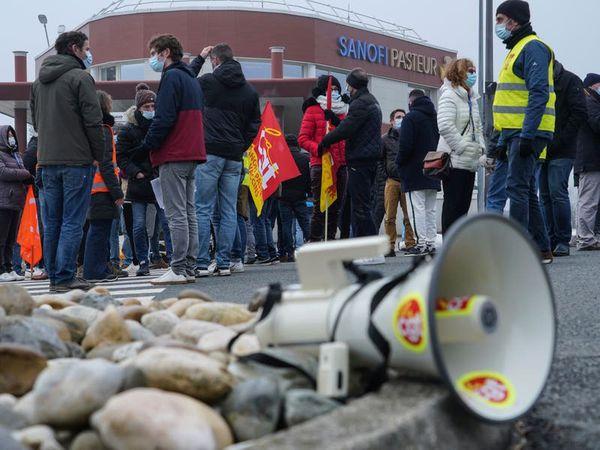 Unions strike over job cuts at French coronavirus vaccine maker Sanofi