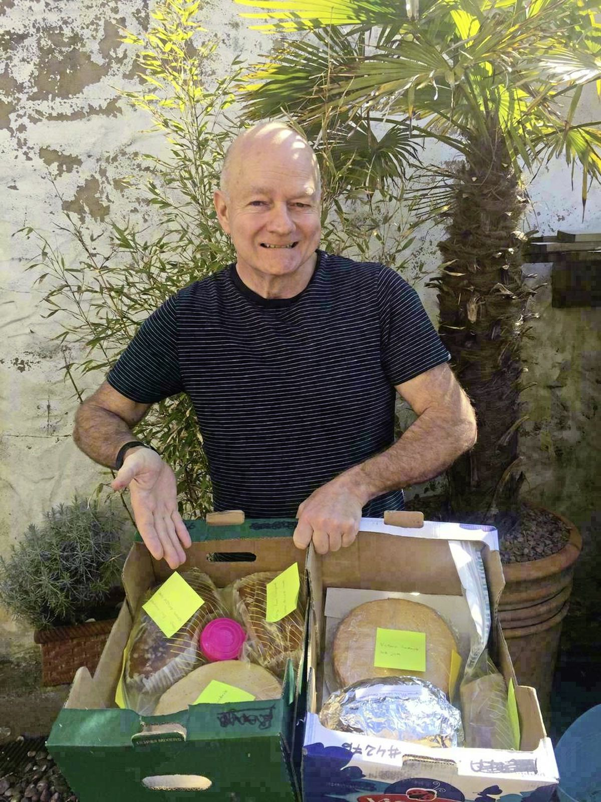 Stroke survivor Tony Robinson has been baking cakes for staff at the PEH during lockdown as a way of giving back to the service which has helped him on his road to recovery. Image supplied. (29273186)