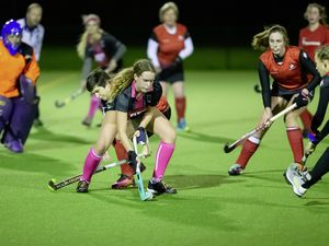 Alliance Women's League leaders Amazons (in red) played Panthers in the last match before the island went into lockdown last month. (Picture by Martin Gray, 29121362)