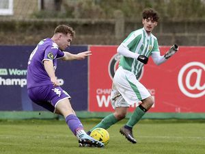 FOOTBALL Isthmian South East - VCD Athletic v. Guernsey FC, 25-01-20. Robbie Legg.Picture by ESA Photos. (26993011)