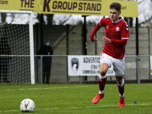 Well settled: Alex Scott playing for Bristol City U23s against Sheffield Wednesday U23s recently.(28964713)