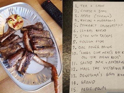 This man recreated all the meals in Lord of the Rings for a movie marathon to honour his late father