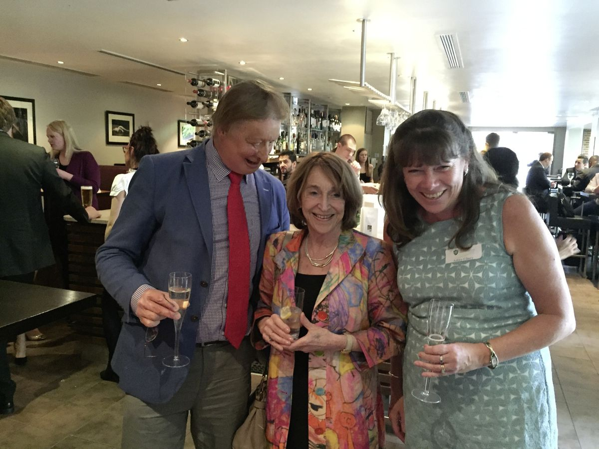 James when he attended The Ladies' College Guild alumnae event in London in May 2016.  He is pictured with Baroness Jill Pitkeathley (an alumna of the College) and Ashely Clancey, Principal. (28645664)
