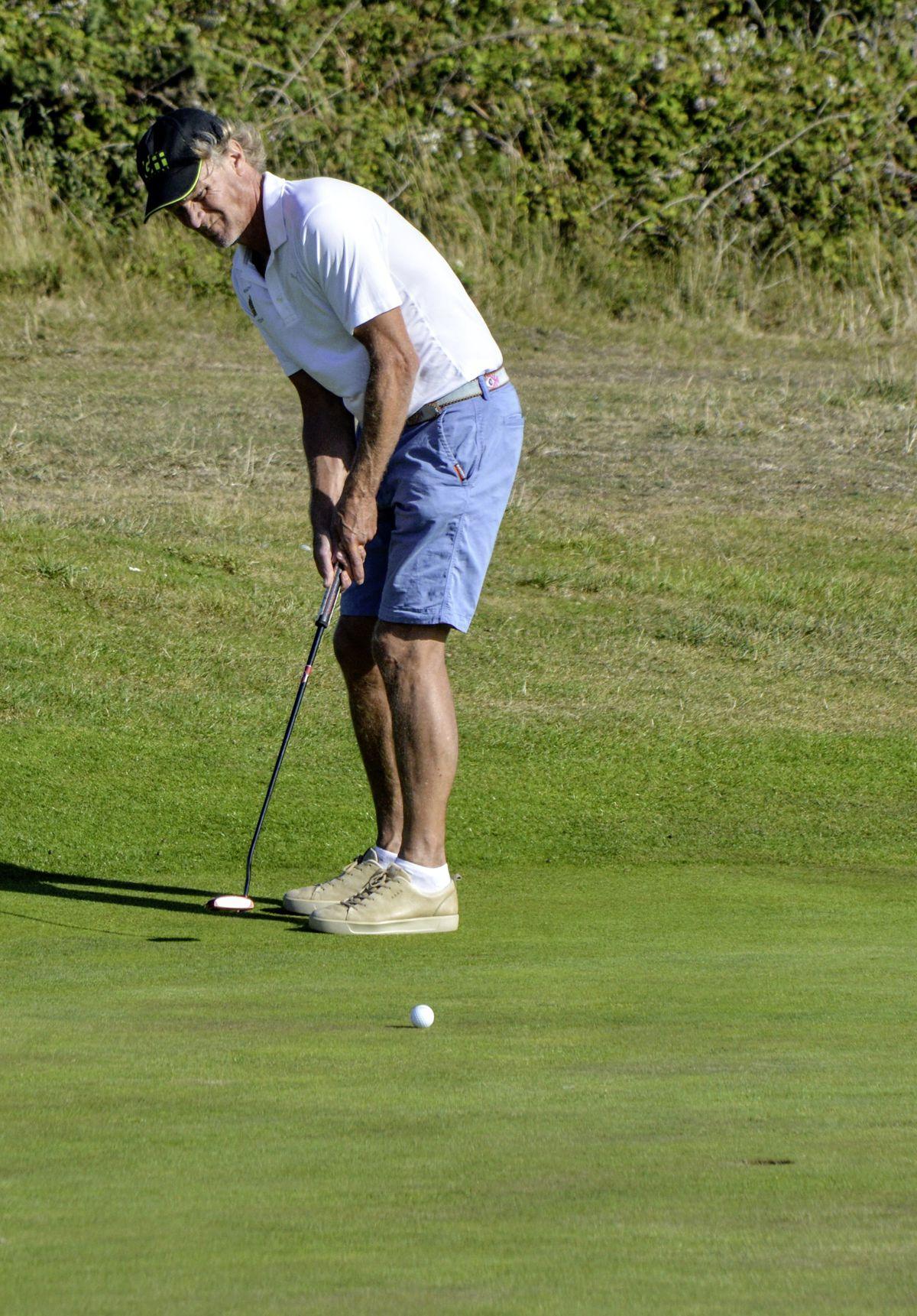 Daniel Griggs putting for birdie. (Picture by Gareth Le Prevost, 28541122)