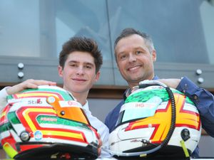 Pic by Adrian Miller 11-12-18      .Father and son Andy and Seb Priaulx at their home in Torteval.Both of them have new racing contracts. (25263109)