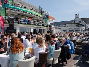 Pic supplied by Andrew Le Poidevin: 30-05-2021..A balcony gig at Cobo Bay Hotel. The Rubix play to a relaxed crowd enjoying the sunshine.. (29815050)