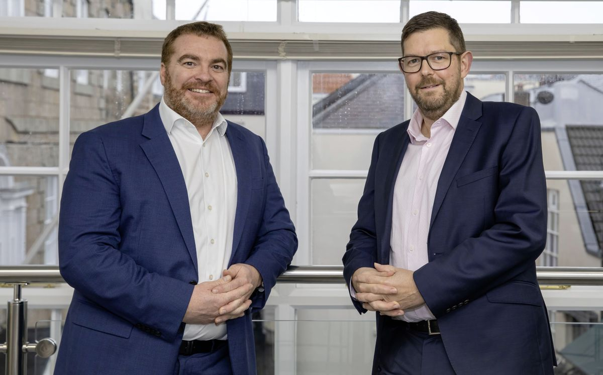 Acqusition news: (L-R) Cyril Swale, head of office in Guernsey for Grant Thornton, and Jeremy Ellis, audit partner of Saffery Champness GAT LLP. (28970310)
