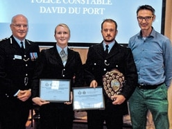 PCs' bravery in dealing with man with knife is recognised