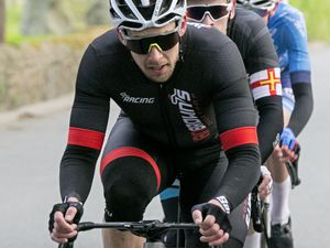 Pic by Adrian Miller 02-04-21 Easter cycling road race Reservoir circuit. (29398436)