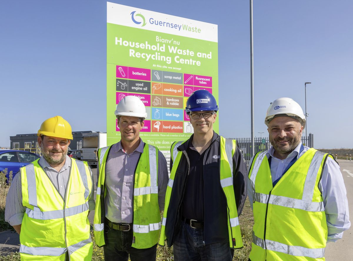 Left to right: Rob Roussel (Guernsey Waste), Stuart Tucker (GE), Danny Atkinson (GE) and Vince Smith (GE). (28720546)