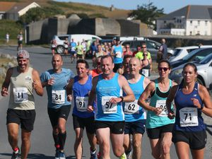 Last year's winter 10km road race from Pembroke to North Beach took place later than planned having been postponed due to bad weather. This year's edition has been postponed due to lockdown. (Picture by Adrian Miller, 29205122)