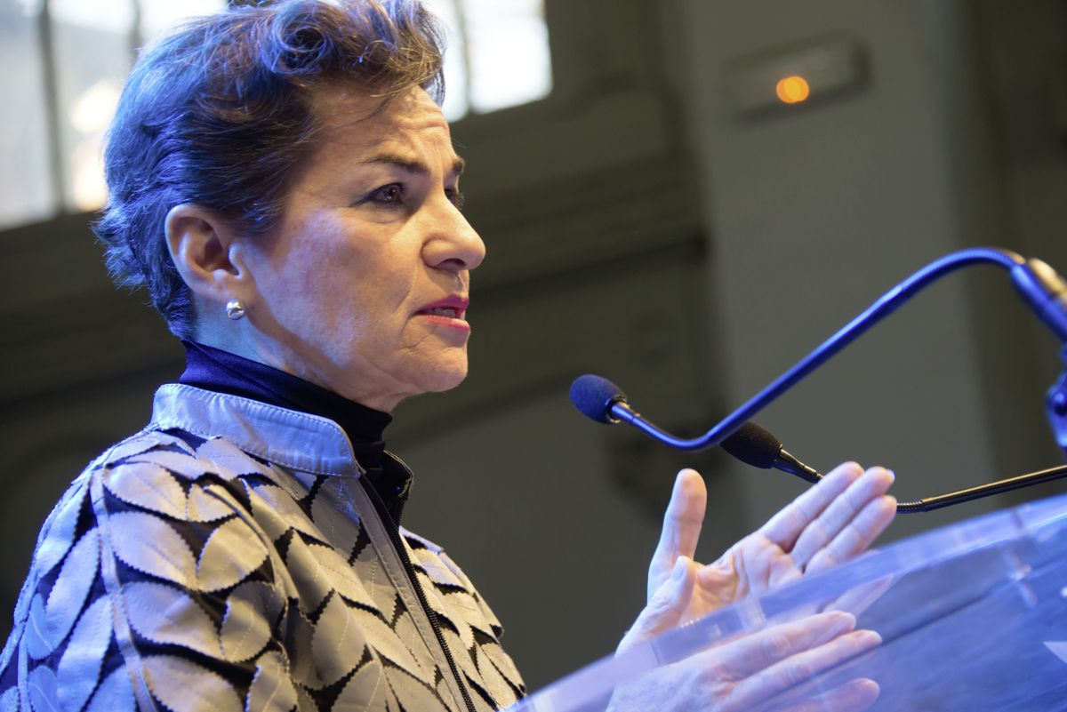 PARIS - NOVEMBER 28: Christiana Figueres, Executive Secretary of the United Nations Framework Convention on Climate Change, speaks during the COP21 climate summit in Paris, France, November 28, 2015. (29295381)