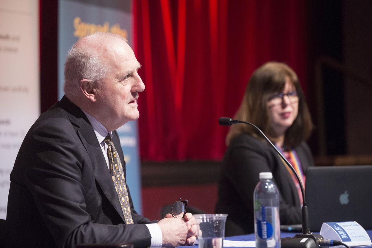 CCA chairman Deputy Peter Ferbrache and Director of Public Health Dr Nicola Brink. (29647623)