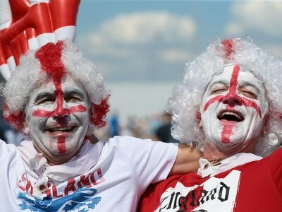 In Pictures: Passionate England fans rewarded with 6-1 scoreline