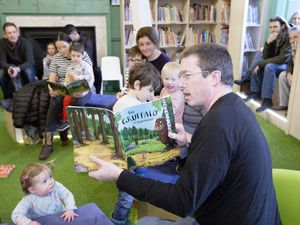 Pic by Adrian Miller 16-01-21 Guille-alles Library Family stories in Guernsey French ( Guernesiais ) read by Chris Dye. (29118821)
