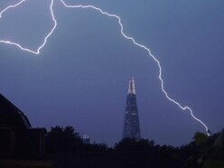 UK hit by '15,000 to 20,000' lightning strikes as thunderstorms roll in