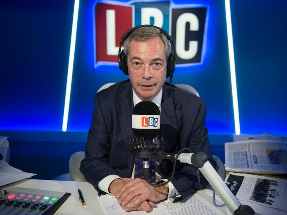 Nigel Farage to leave radio station LBC 'with immediate effect'
