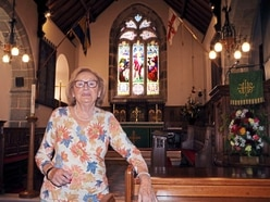 Peggy returns to church where she was married 72 years ago