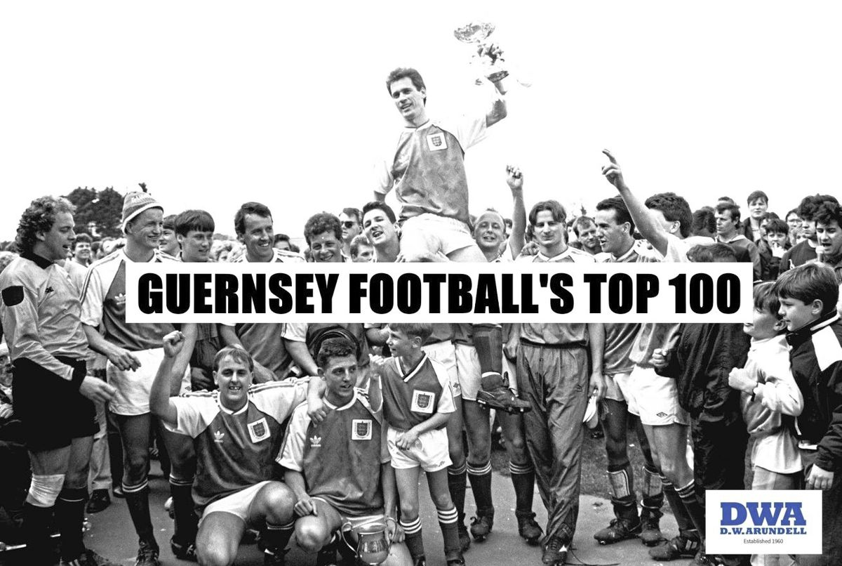 Guernsey Football's Top 100 supported by DWA graphic. (29213549)