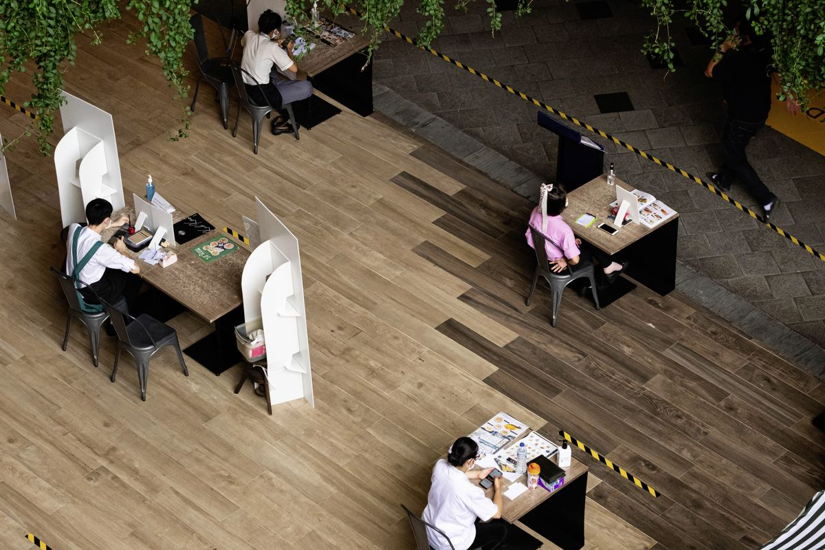 Guernsey restaurants will struggle to make money with seating restricted to allow for social distancing, as in this one in Bangkok, Thailand. (Shutterstock picture)