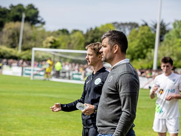 Guernsey manager Chris Tardif during the last Muratti played in 2019. (Picture by Ben Fiore, 29283051)