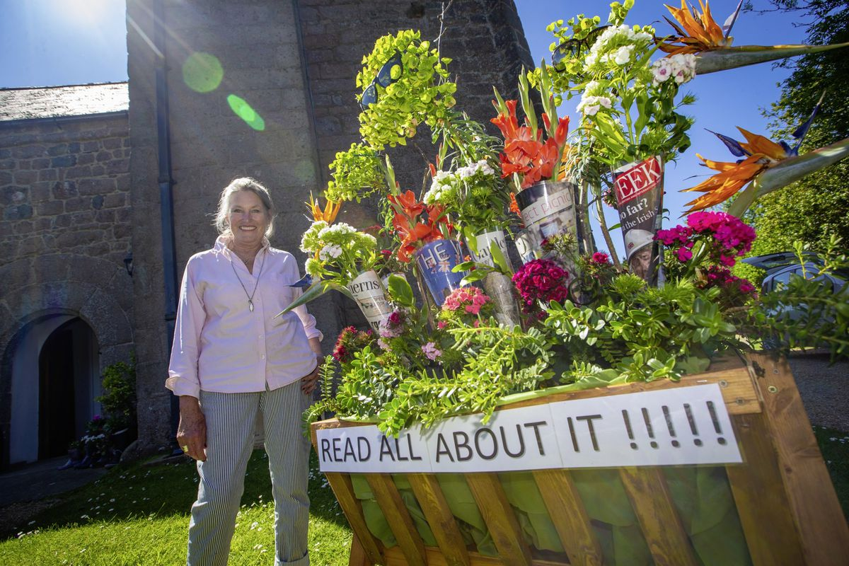 Flower festival organiser Diana Arundale. (Picture by Peter Frankland, 29636310)