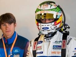 Priaulx 'Snr' on the podium at Silverstone