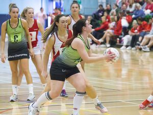 Pic by Adrian Miller 31-03-19        .Beau Sejour .Netball inter-insular Guernsey v Jersey. (28398088)