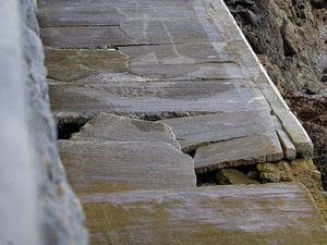 Picture By Peter Frankland. 09-10-19 Updated pic on the damage to the slipway at Havelet..Havelet slipway. (26024213)