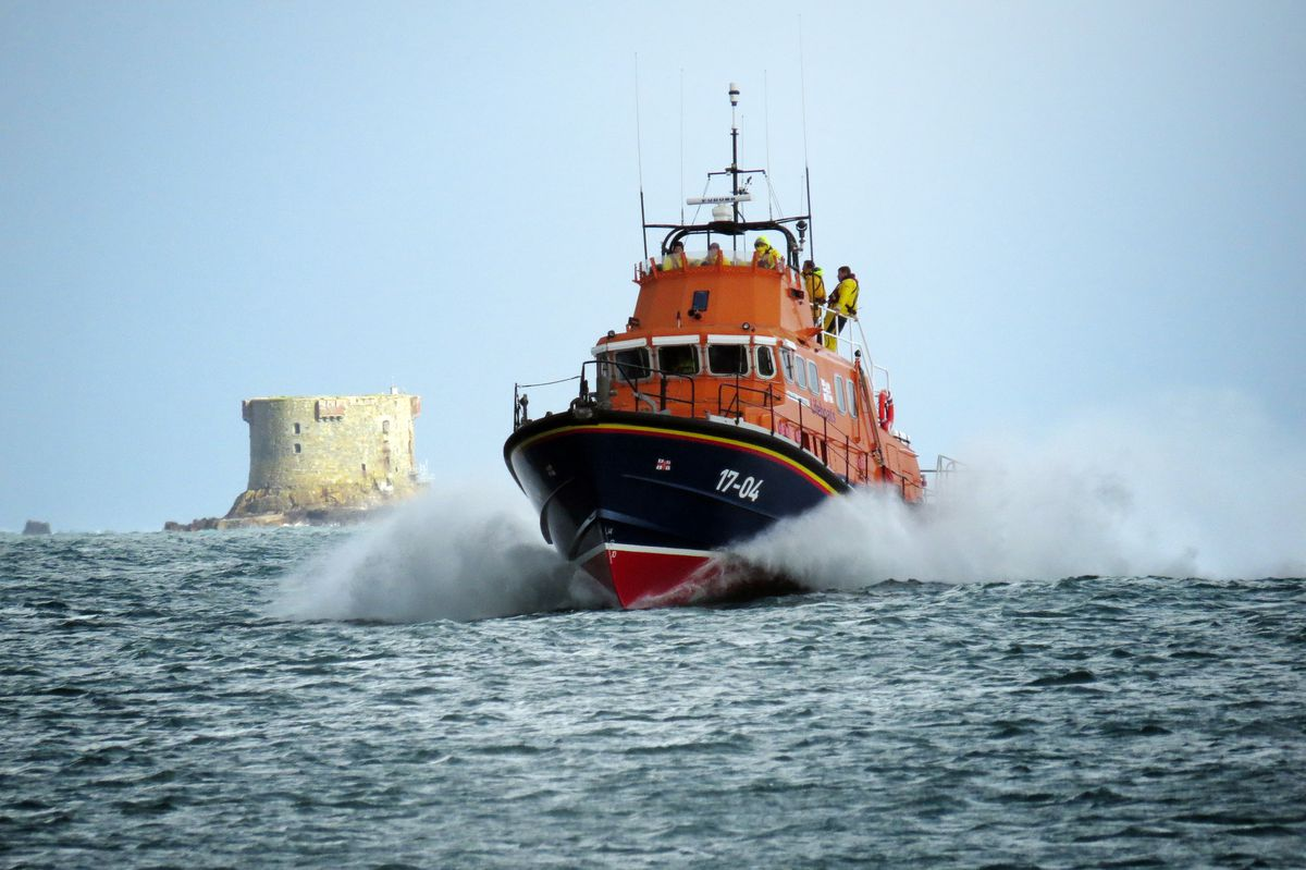 The Spirit of Guernsey had been damaged last November when it was called out to rescue fishermen whose boat had sunk off Herm. (Picture by Tony Rive, 28411131)