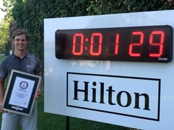 Watch as man sets world record for fastest hole of golf