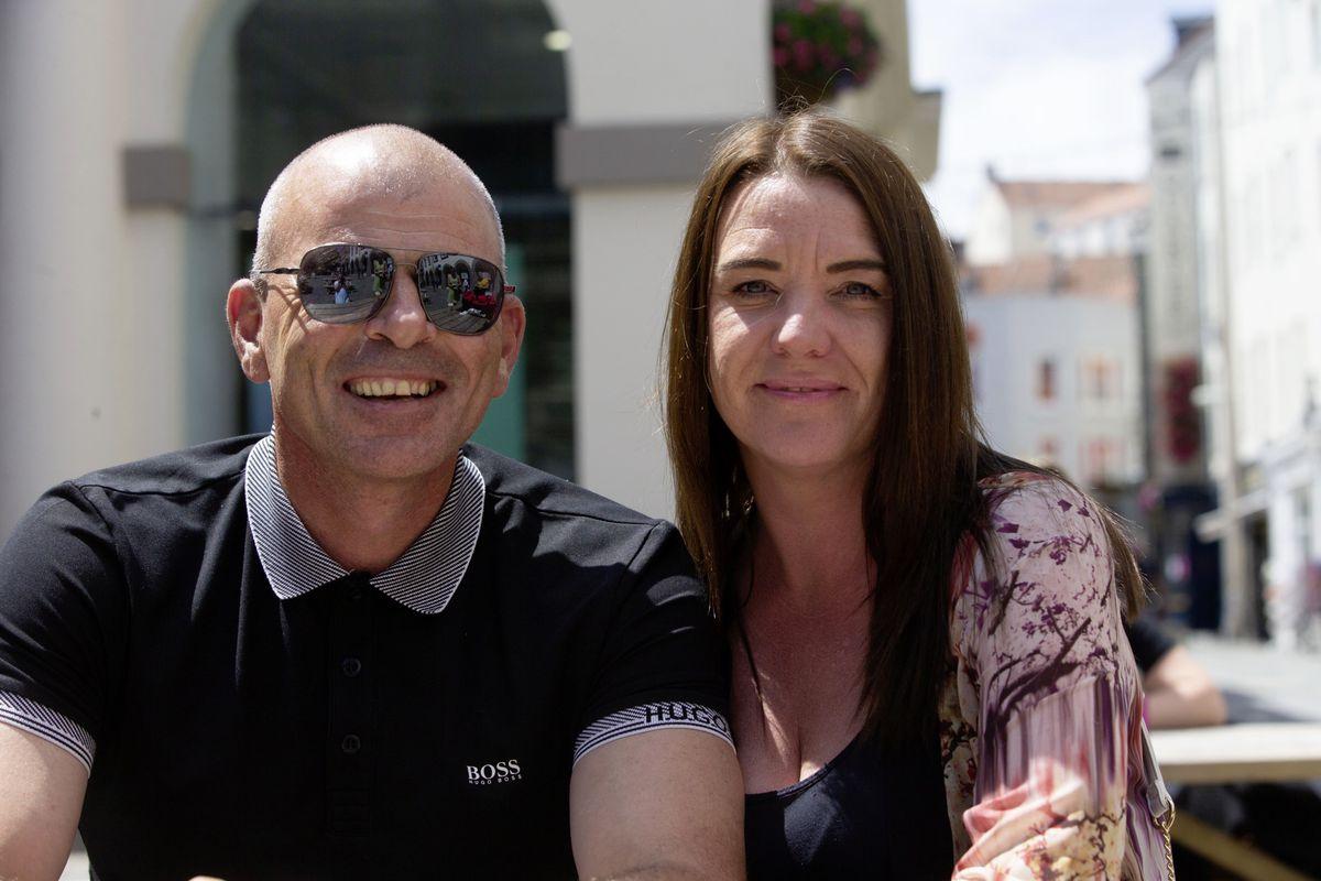 Michael Ogier, left, with Rachel Or. (Picture by Cassidy Jones, 29693084)