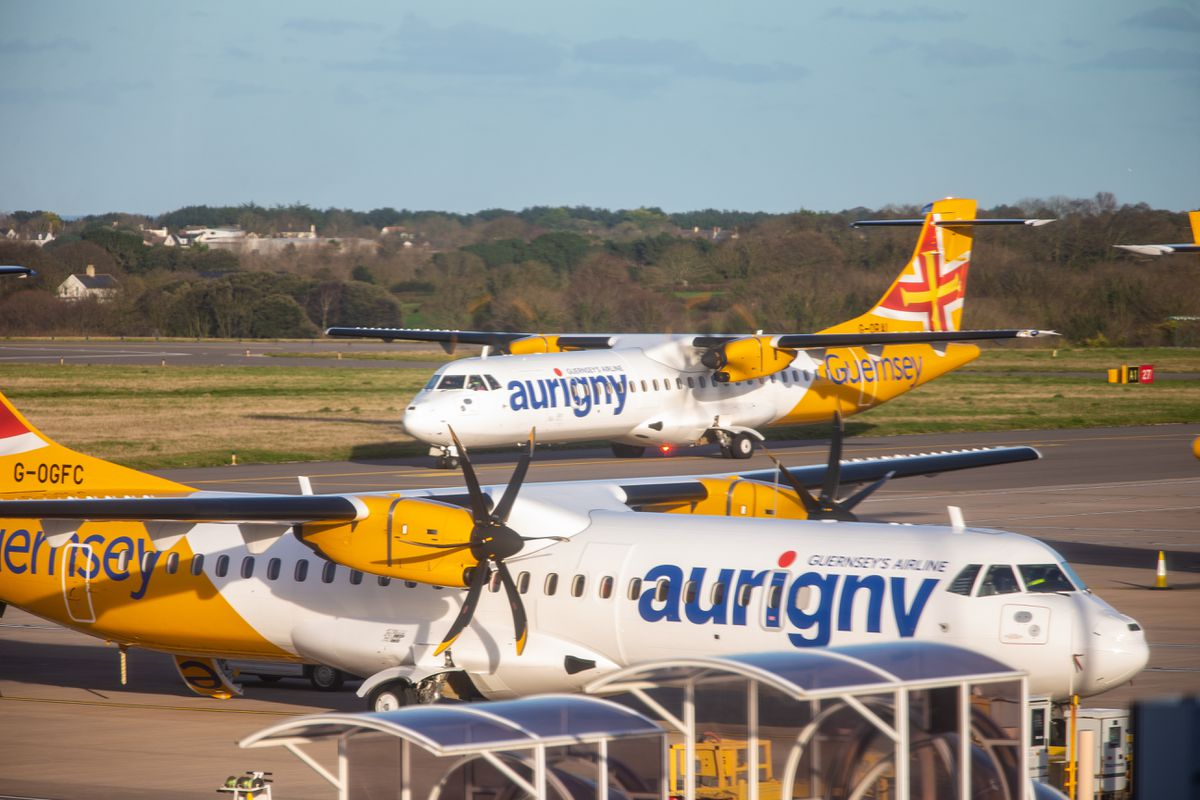 The first flight back from Manchester for students arriving in Guernsey in December. (Picture by Peter Frankland, 29095179)