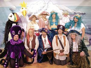 Sue Daly, who wrote and directed the Sark Theatre Group's panto, Greybeard's Christmas, also took the picture of the cast at a dress rehearsal.