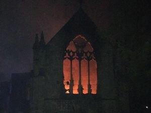 Teenager arrested over huge blaze at historic Derbyshire church