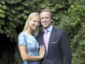 Lady Gabriella Windsor and her fiancee, Thomas Kingston, after the announcement of their engagement. (Picture copyright of Alexandra Diez de Rivera)