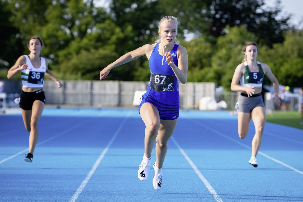 Abi Galpin broke the 24sec. barrier for 200m at the Welsh Championships. (Picture by Martin Gray, 29770829)