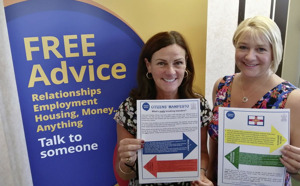 Citizens Advice CEO Kerry Ciotti, left, and deputy Ali Marquis with theCitizens' Manifesto. (28687041)