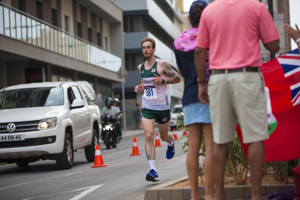 Picture By Peter Frankland. 12-07-19 Island Games 2019 Gibraltar. IG 2019. Half marathon. Luke Williams. (26800068)