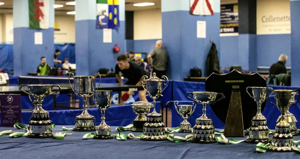 The trophy table for the re-arranged 2020 Island Championships, which had been delayed from earlier in the year due to the pandemic. (Picture by Adrian Miller, 28910309)