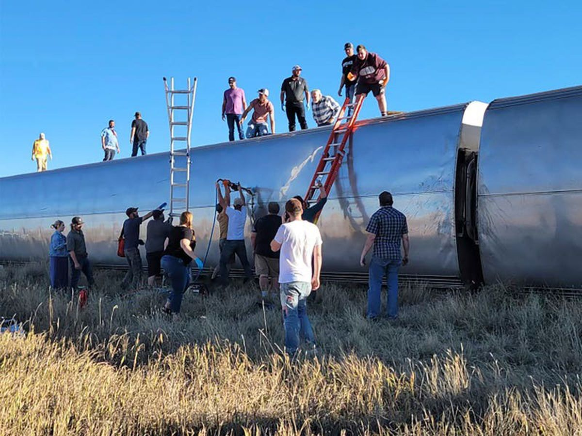 At least three dead after Amtrak train derails in Montana