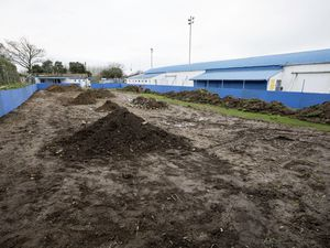 Bels are turning the area behind the stand at the Track into a 3G five-a-side pitch. (Picture by Adrian Miller, 29129132)